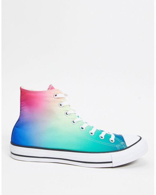 Сине-розовые Высокие Кеды С Эффектом Омбре Chuck Taylor All Star-розовый Converse, цвет: Blue