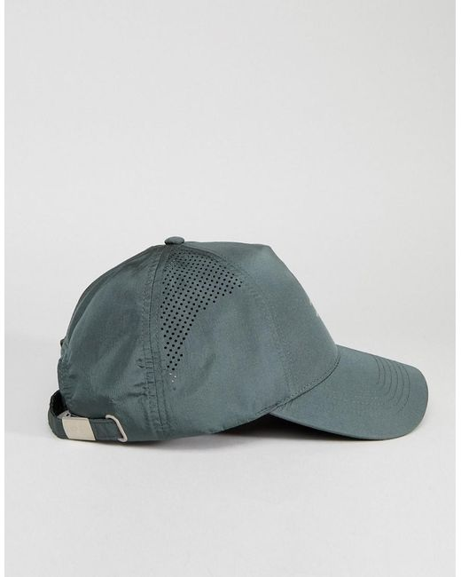 Baseball Cap In Khaki nylon With Logo Detail - Green Asos A9Zj5DfL