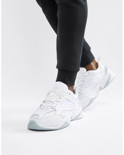 Nike M2k Tekno Trainers In White Av4789-101 in White for Men - Lyst 5f9747d96fba0