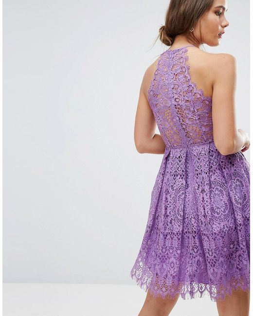 best wholesaler detailed images new release Asos Pinny Prom Mini Dress In Lace