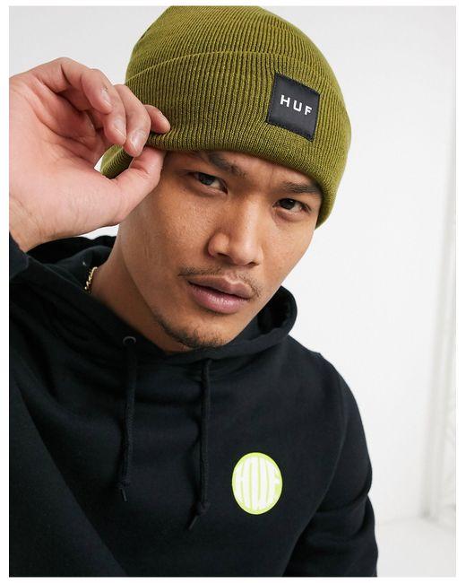 Essentials Box - Bonnet à logo - Vert militaire Huf pour homme en coloris Black