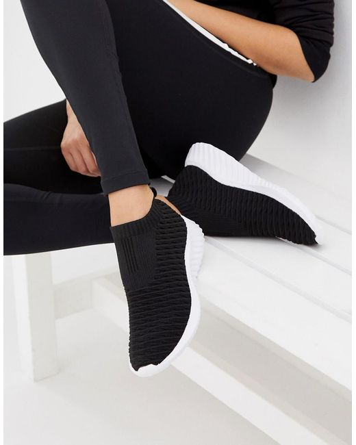 ASOS Black Display Sock Sneakers