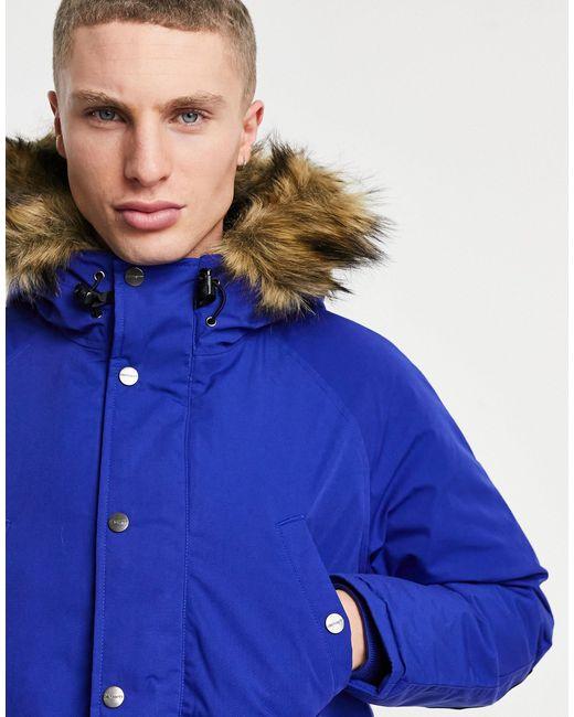 Куртка-парка Trapper-голубой Carhartt WIP для него, цвет: Blue