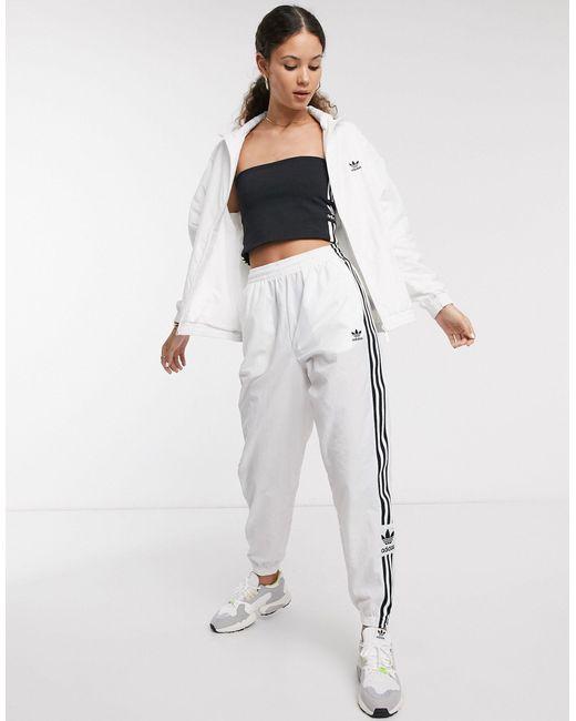 Белые Спортивные Брюки Adicolor-белый Adidas Originals, цвет: Multicolor