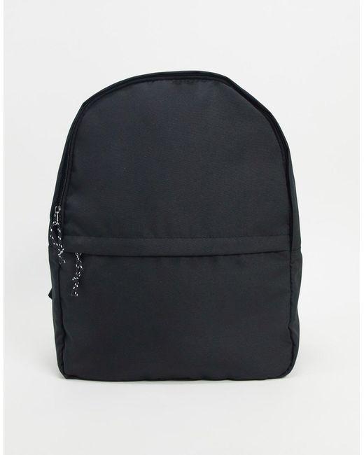 Рюкзак Из Черного Нейлона С Контрастным Бегунком ASOS для него, цвет: Black