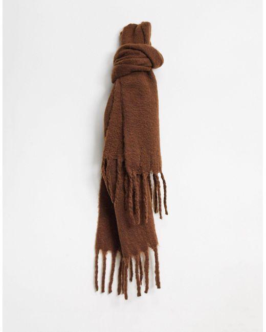 Темно-коричневый Шарф Из Переработанного Полиэстера Elsa Monki, цвет: Brown