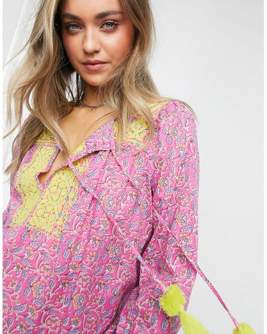 J.Crew Pink J. Crew Embroidered Cotton Voile Top