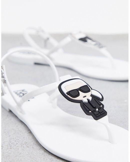 Iconic - Sandales en caoutchouc Karl Lagerfeld en coloris White