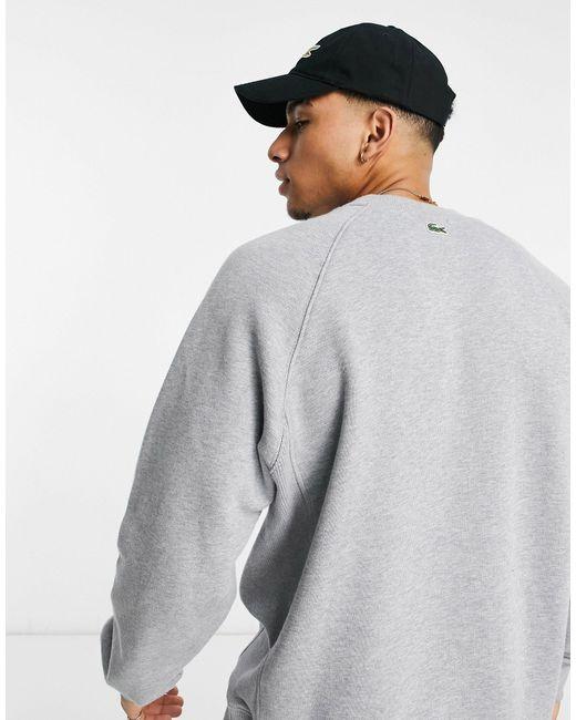 Серый Свитшот X Polaroid Lacoste для него, цвет: Gray