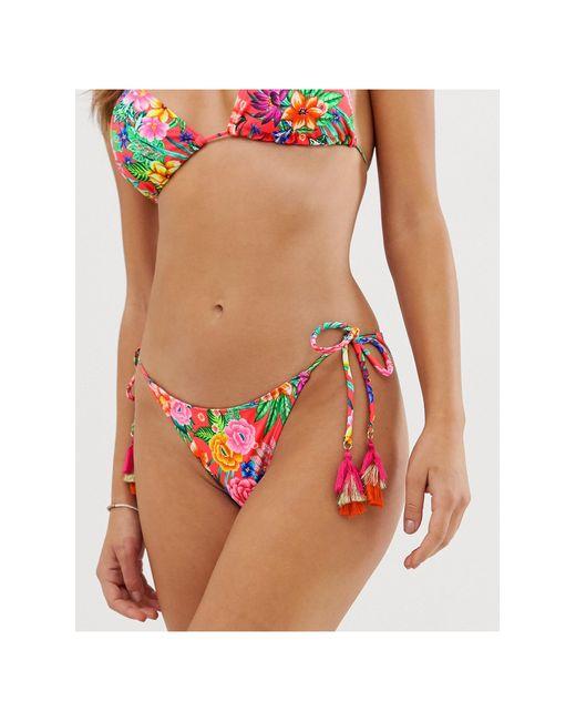 Плавки Бикини С Тропическим Принтом И Завязками -многоцветный Accessorize, цвет: Multicolor