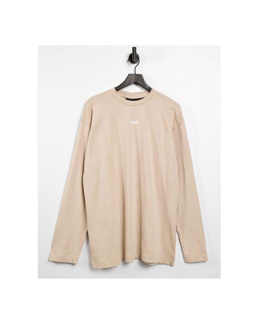 Criminal Damage Natural – Langärmliges T-Shirt-Kleid