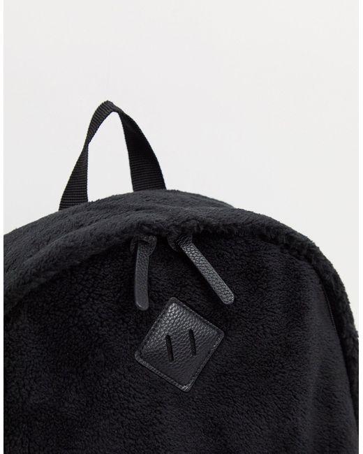 Черный Рюкзак С Основанием Из Искусственной Кожи ASOS для него, цвет: Black