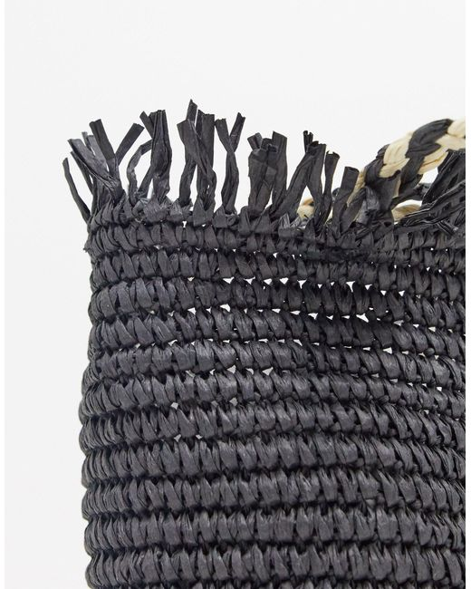 Серая Сумка-тоут Из Рафии -серый Pull&Bear, цвет: Gray
