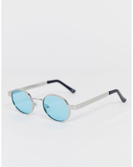Color Sol Y Plateado Hombre Azul Ovaladas Turquesa Gafas De Metal Patillas Gruesas Con Lentes En edCxBo