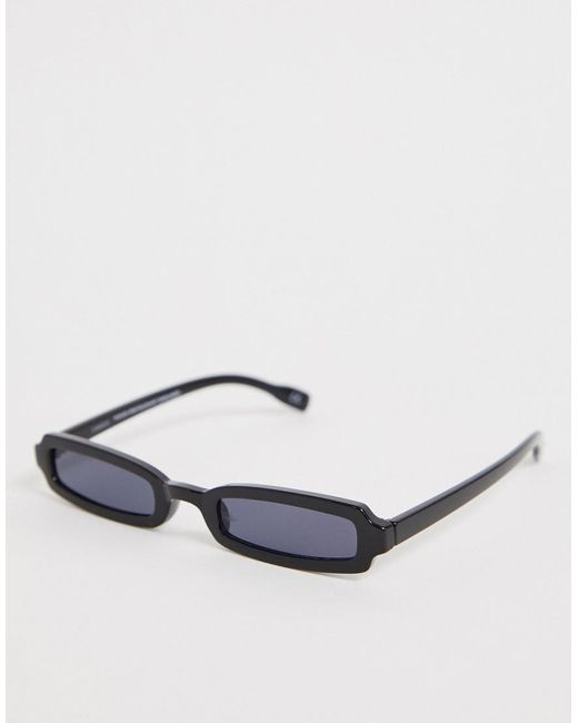 ASOS Black Narrow Square Fashion Glasses