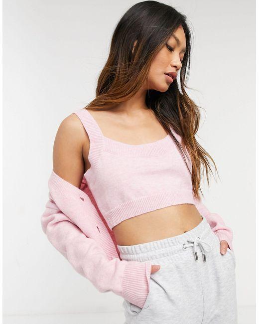 Бралетт Мини Из Пушистого Трикотажа От Комплекта -розовый Цвет Fashion Union, цвет: Pink