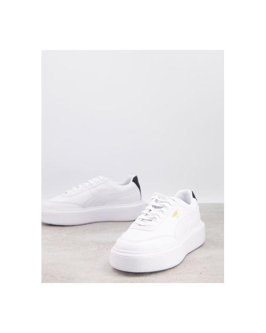Белые Кроссовки С Черной Отделкой Oslo Femme-белый PUMA, цвет: White