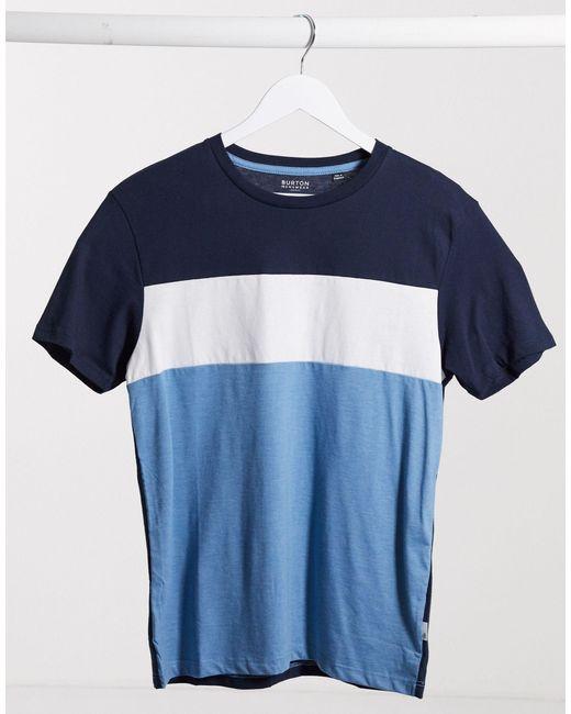Темно-синяя Футболка Со Вставками -темно-синий Burton для него, цвет: Blue