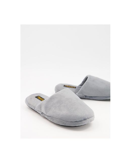 Серые Мягкие Тапочки -серый Truffle Collection для него, цвет: Gray