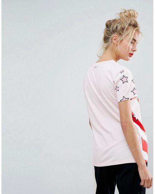 Iceberg Boyfriend Fit T Shirt With Spinach Print Lyst