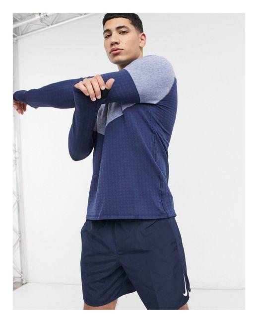 Синий Лонгслив Run Division-голубой Nike для него, цвет: Blue
