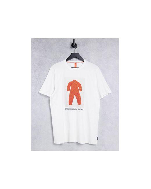 Raeburn White Organic Cotton Flight Suit T-shirt for men