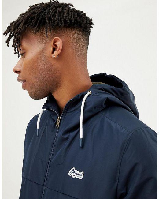 Jack & Jones - Blue Originals Hooded Jacket for Men - Lyst