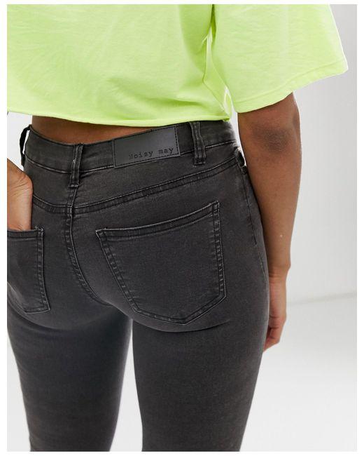 Noisy May Gray – Enge Jeans mit niedrigem Bund