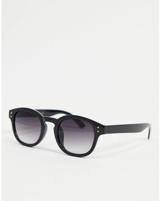 A.J. Morgan Black Round Sunglasses