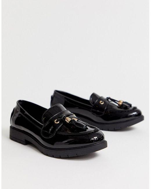 Truffle Collection Loafers Met Dikke Zool En Kwastje In Zwart in het Black
