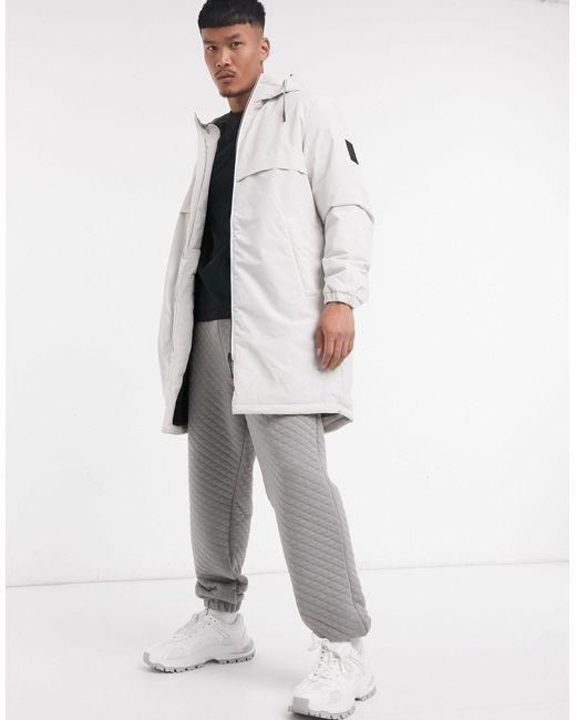 Белая Парка С Капюшоном -белый Jack & Jones для него, цвет: White