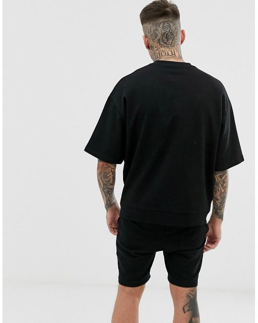 Mens Henleys Plain Pack Swim Short In Black