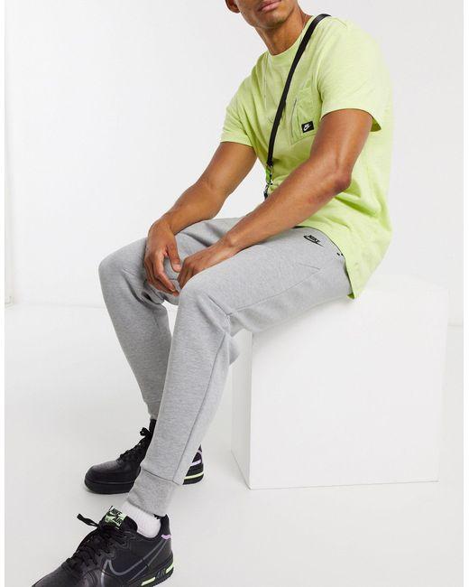 Серые Флисовые Джоггеры Tech-серый Nike для него, цвет: Gray
