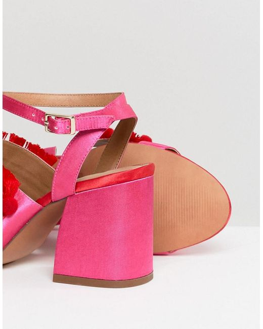 outlet cheap authentic DESIGN Hot Cake Embroidered Block Heeled Sandals cheapest price sale online from china cheap price 1JYTcG