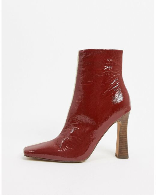 ASOS Red Elka Premium Leather Boots