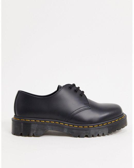 Черные Туфли На Платформе С 3 Парами Люверсов 1461 Bex-черный Dr. Martens для него, цвет: Black