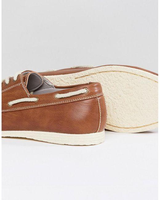 Nouvelles Chaussures Bateau Look En Tan Tan - XBE1is