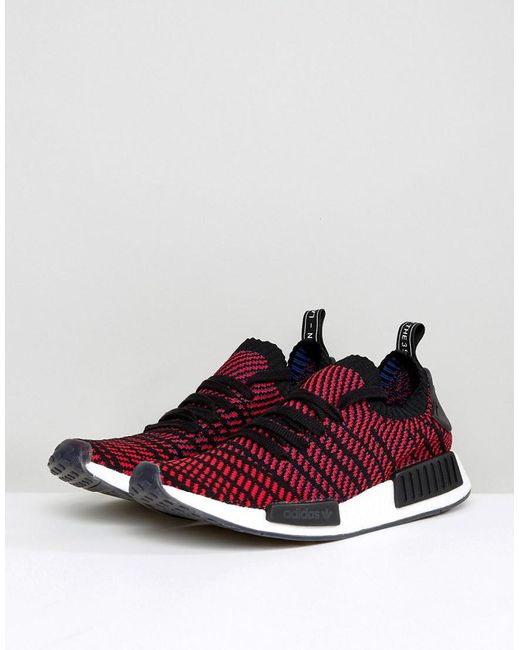 b12cf49ce7292 ... Adidas Originals - Nmd R1 Stlt Primeknit Sneakers In Black Cq2385 for  Men - Lyst