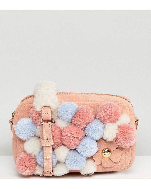 Ugg - Janey Pink Pom Pom Cross Body Bag - Lyst