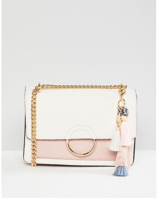 ALDO - Multicolor Contrast Flap Cross Body Bag With Pom Tassel - Lyst