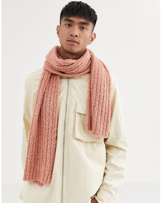Écharpe texturée classique ASOS pour homme en coloris Pink