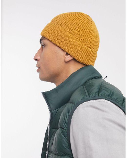 Шапка-бини Горчичного Цвета ASOS для него, цвет: Yellow