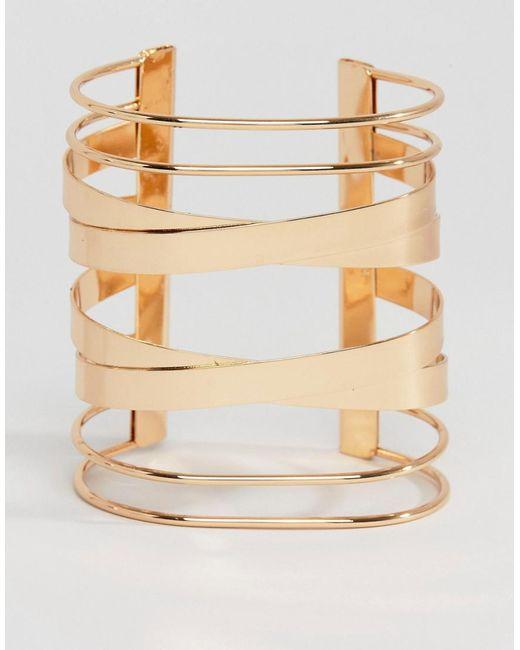 ALDO   Metallic Agrelan Cuff Bracelet   Lyst