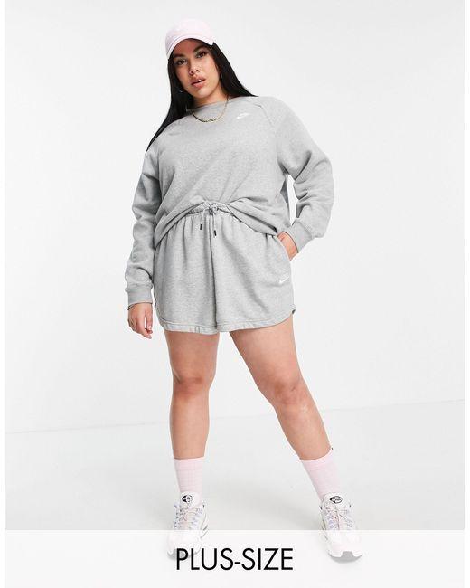 Nike Gray Plus Size Essential Sweatshirt Crew Neck