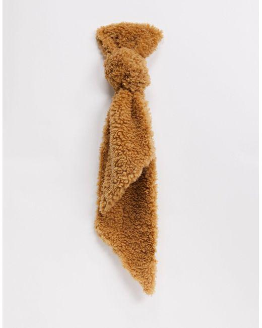 Светло-коричневый Плюшевый Шарф -мульти Vero Moda, цвет: Multicolor