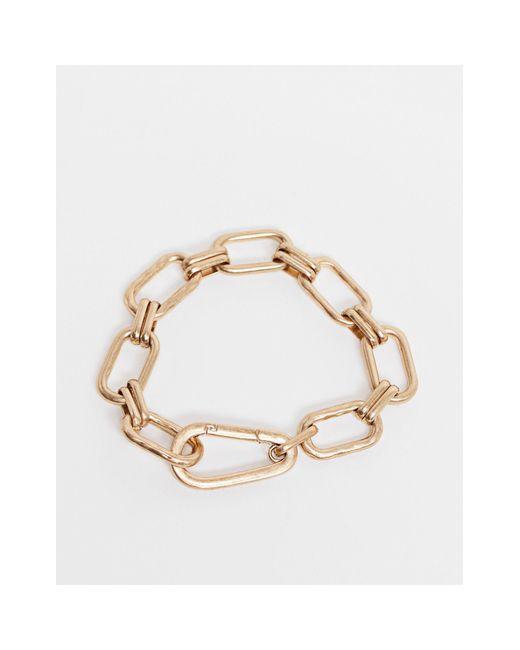 AllSaints Metallic Chunky Chain Bracelet