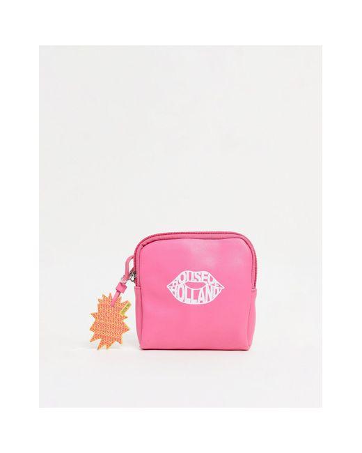 Розовый Кошелек На Молнии С Фирменным Узором В Виде Губ -розовый Цвет House of Holland, цвет: Pink