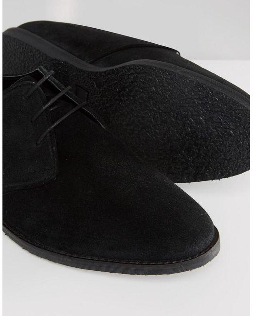 Chaussures Derby Asos En Daim Noir Avec Liseré Noir Réseau De Distribution - sDGEgyIIb