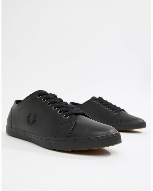 Kingston Leather Sneakers In Black