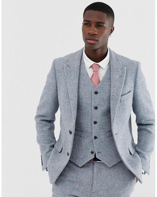 Harris Tweed Mens Brown Suit Jacket Regular Fit 100/% Wool Windowpane Check